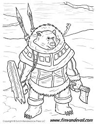 warrior bear coloring tim u0027s printables