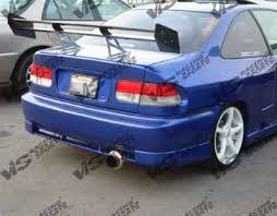 2000 honda civic spoiler honda civic 2dr 4dr vis racing techno r rear bumper