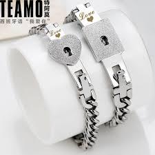 key necklace set images Teamo his and hers bracelets lock and key bracelets set for jpg