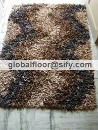 Area Rugs India Leather Carpets Leather Shaggy Rugs Leather Shag Rugs India