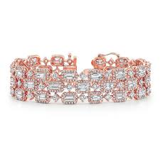 rose gold bracelet with diamonds images 18k rose gold diamond bracelet jpg