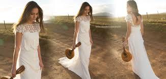 robe de mari e boheme chic robe de mariée bohème chic et chêtre en crêpe et dentelle