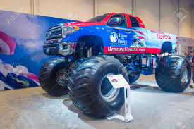 monster truck shows 2014 las vegas nov 07 toyota giant truck at the sema show in las