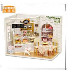 Sweet Coffee Shop France Style Diy Doll House 3d Miniature Wooden Diy Dollhouse 3d Miniature Doll House Furniture Kit
