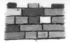 home design brick wall drawing black and white wainscoting