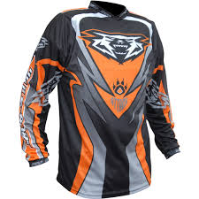 orange motocross gear wulf attack motocross jersey off road dirt enduro breathable