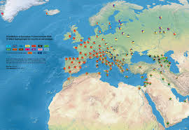 Haplogroup World Map by Dominant Y Dna Haplogroups In Europe And Middle East Vivid Maps