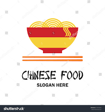 chinese restaurant chinese food logo text stock vector 615512453