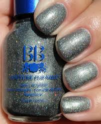 best and cool metallic silver holographic glitter nail polish color