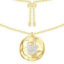 silver rock necklace images Ac4213oxy fun crazy love apm monaco jpg