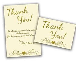 ivory wedding anniversary thank you cards gold 50th