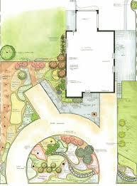 Simple Landscape Design by Simple Garden Drawing On Designs Zone Simple Landscape Design