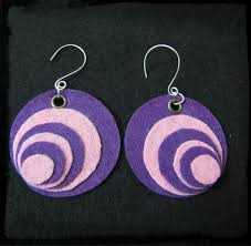 felt earrings purple felt earring 4 steps with pictures