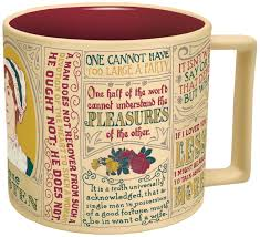 amazon com jane austen coffee mug austen u0027s most famous quotes