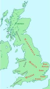 7 Kingdoms Map History Of Anglo Saxon England Wikipedia