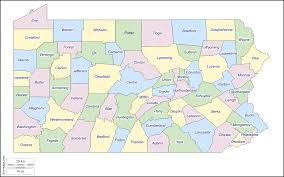 Pennsylvania Counties Map by Pennsylvania Free Map Free Blank Map Free Outline Map Free