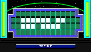wofart sets and props buy a vowel boards within blank wheel of