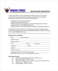 Sponsorship Template 8 sponsorship application templates free sle exle format