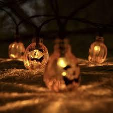 7 5m 30 led solar energy pumpkin string lights halloween party