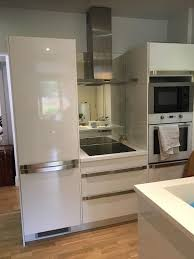 Ikea Kitchen White Gloss Ikea White Gloss Kitchen Units And Chrome Handles With Built In