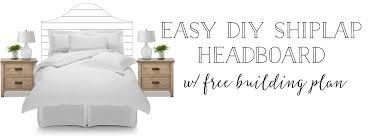 free building plans plum pretty decor design co easy diy shiplap headboard with free