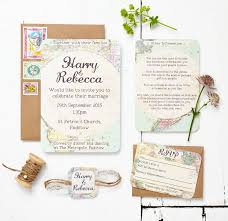 wedding invitation set travel inspired map wedding invitation set by peardrop avenue