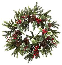 berry wreath multicolor and green 22 traditional