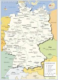 map of germany and surrounding countries with cities map of germany with cities major tourist attractions maps