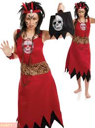 red witch halloween costume voodoo man witch doctor costume mens ladies couples halloween