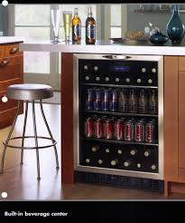 kitchen island drinks fridge i like this idea since so much space