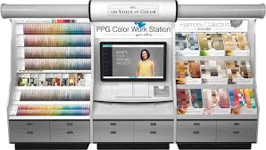ppg the voice of color paint color palette kiosk