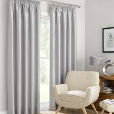 Grey And Silver Curtains Montana Silver Lined Pencil Pleat Curtains Dunelm