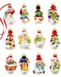 spectacular deal on box of 12 mini snowman