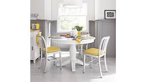 Avalon  White Extension Dining Table Crate And Barrel - Counter height dining table crate and barrel
