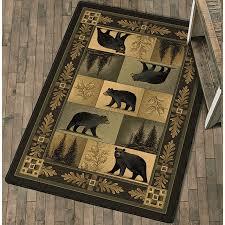 nature u0027s portraits black bear rug collection