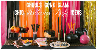ghouls gone glam chic halloween party ideas craft paper scissors