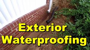 exterior waterproofing seal wall with liquid rubber youtube
