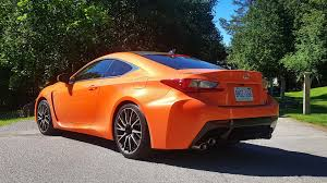 rcf lexus orange 2016 lexus rc f test drive review