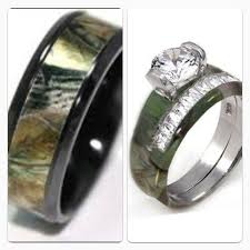 his and camo wedding rings camo wedding ring sets his and hers wedding corners