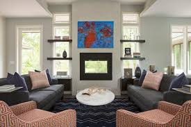 Contemporary Gas Fireplaces by Minneapolis Modern Gas Fireplace Living Room Transitional With