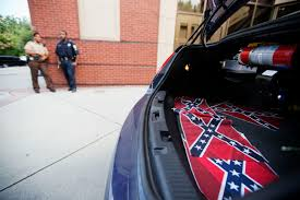 Automotive Flags Confederate Flags Placed At Ebenezer Church Near Mlk Center