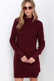 maroon sweater dress burgundy knit dress sweater dress turtleneck dress 79 00
