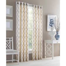 j queen new york adorn grommet top embroidered window curtain