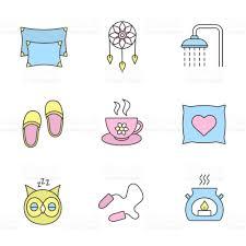 sleeping accessories sleeping accessories icons stock vector art 859108518 istock
