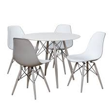 White Dining Table With Black Chairs Modern U0026 Contemporary Dining Room Sets Allmodern