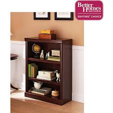 Dark Cherry Bookshelf Better Homes And Gardens Ashwood Road 3 Shelf Bookcase Cherry