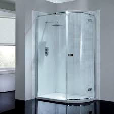 Mira Shower Door April Prestige2 Frameless Single Door Offset Quadrant Shower
