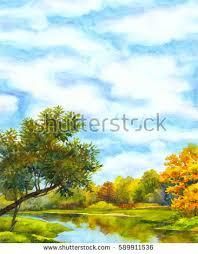 watercolour scene stock images royalty free images u0026 vectors