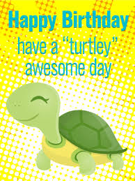 turtley awesome day funny birthday card birthday u0026 greeting