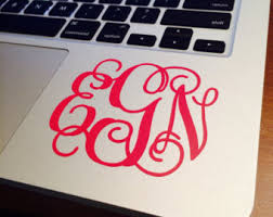 monogram stickers vinyl monogram sticker customized
